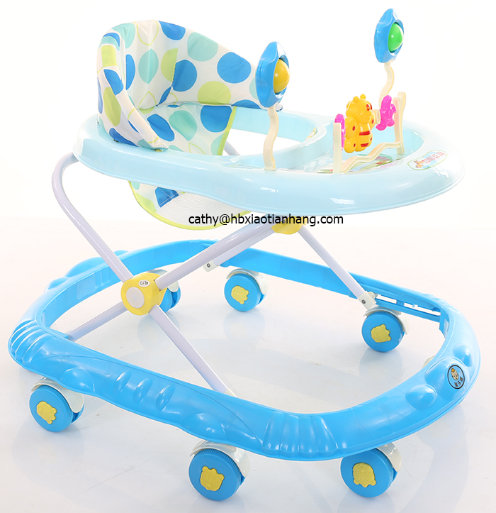 3 in 1 Rotating Baby Walker with Push Bar and Brakes for 6-12 Months Old/Foldable and 3 levels adjustable baby walker