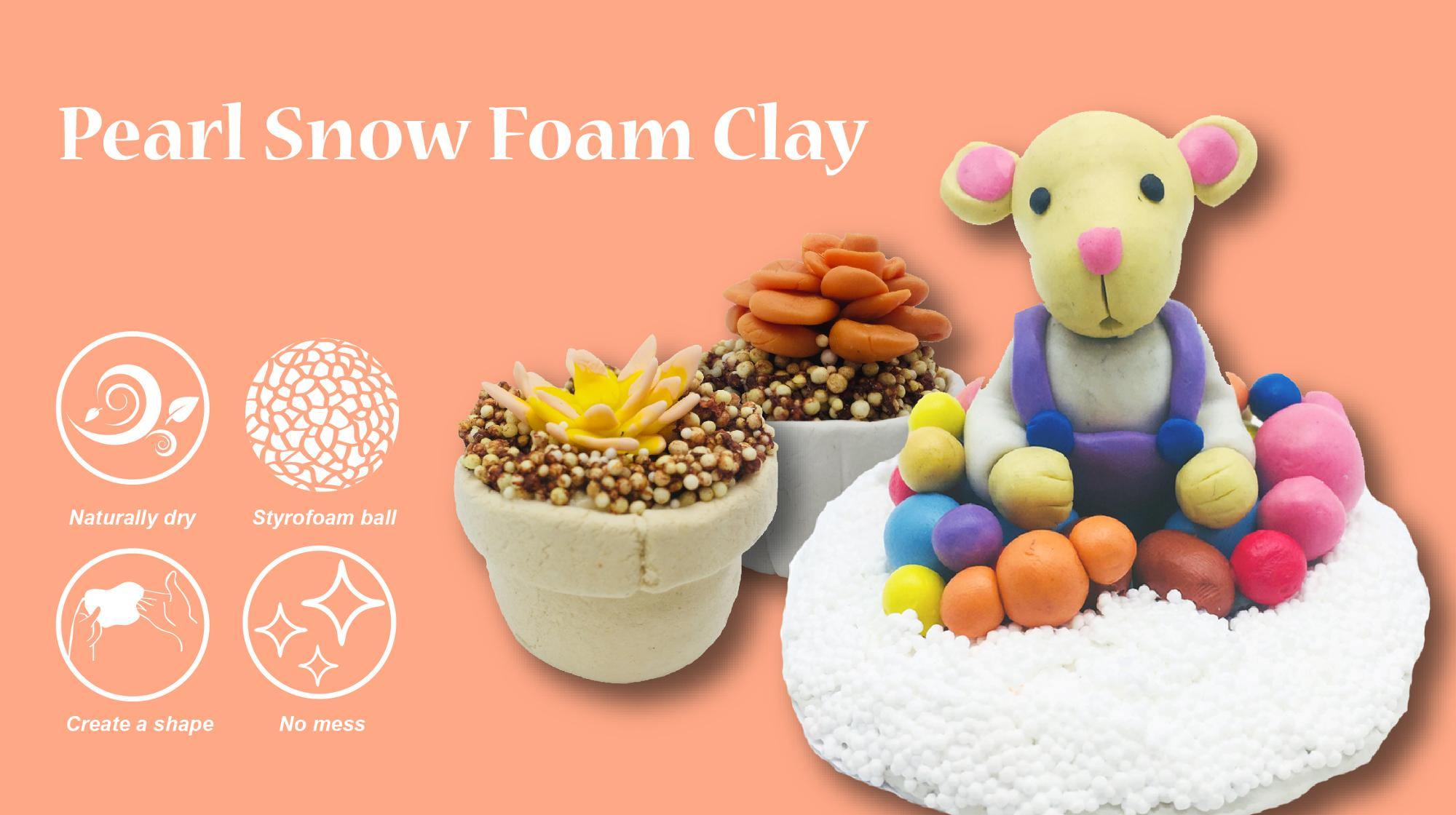 Free Sample Slime Air Dry 50g Pearl Snow Foam Clay