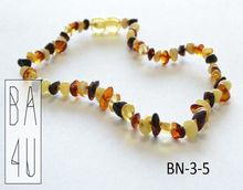 Baltic Amber Baby Teething Necklace Polished Half baroque style beads Mixed colours made from the Real Natural Baltic Amber