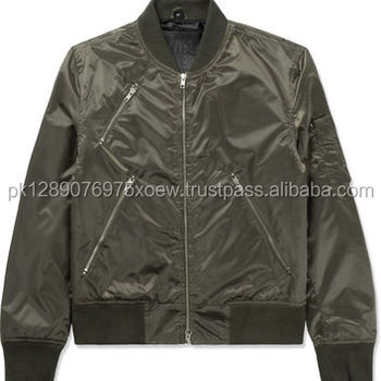 164eb46bbc9 Plain Normal Style Nylon Bomber Jackets