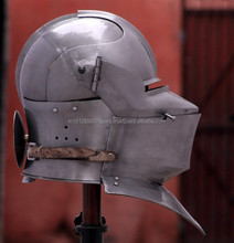 Middeleeuwse Ridder Close Armet Helm 16 Gauge Sca <span class=keywords><strong>Larp</strong></span>