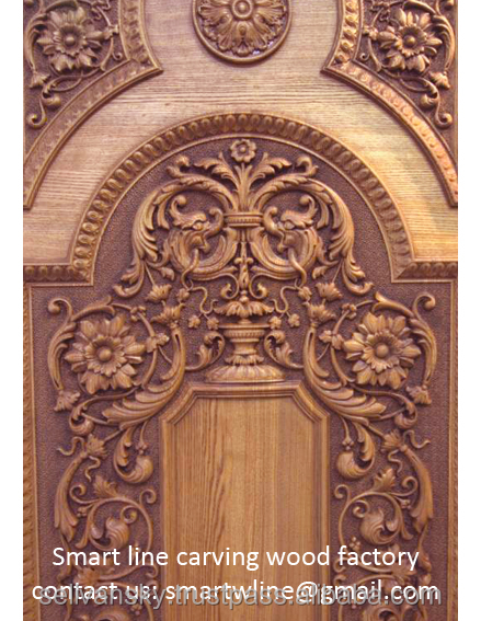Handmade wood carving doors by private client design
