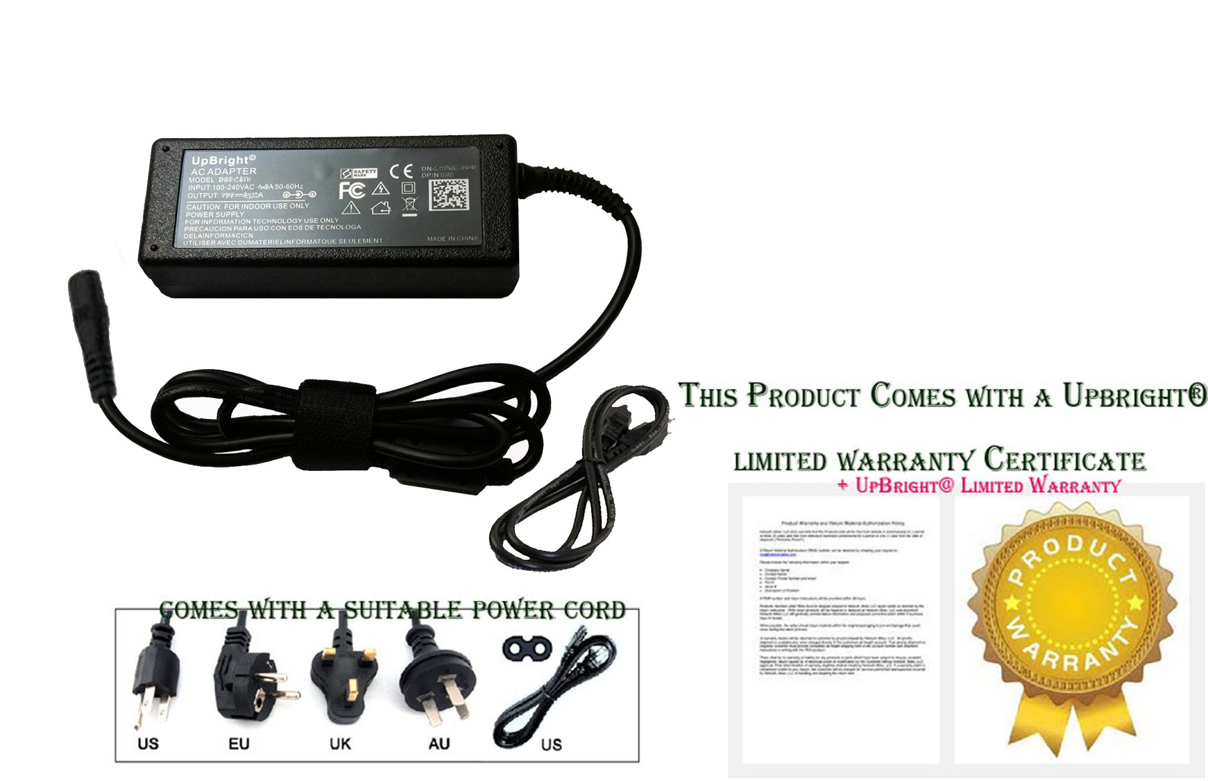UPBRIGHT NEW Global 2-Prong AC/DC Adapter For Model CL2902-B CL2902B CL2902-1 CL29021 CL2902- B Changzhou Mulin Electric Equipment Co. Ltd Power Supply Cord Cable PS Battery Charger Mains PSU