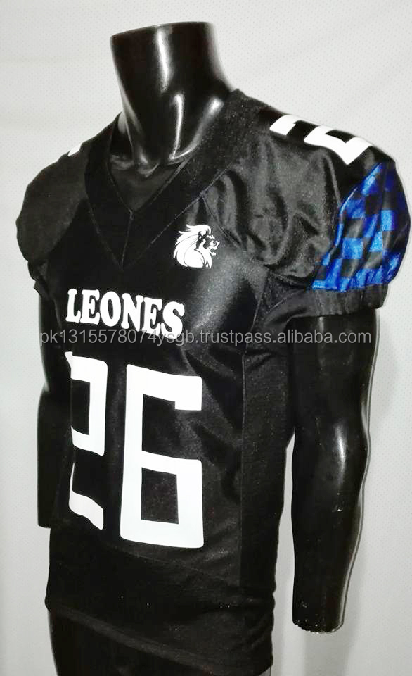Sublimation American football jersey team customized name sublimation American football jersey