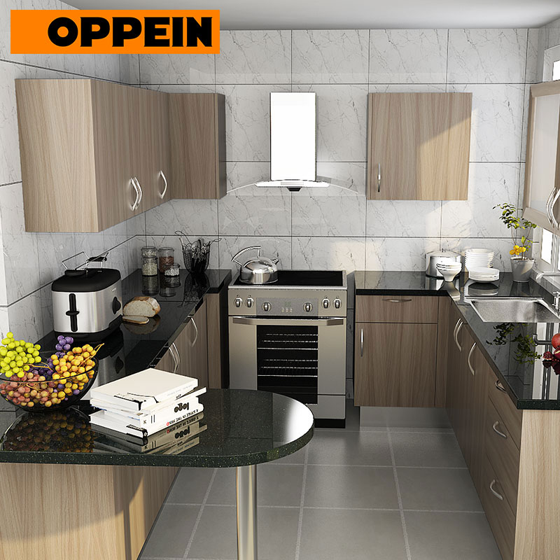 American Style Wood Modular Kitchen Cabinet Designs For Small