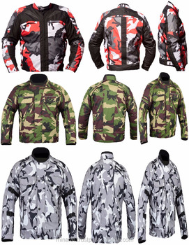 Four Colors Camouflage CE Armoured Waterproof Motorcycle Motorbike Cordura Jacket