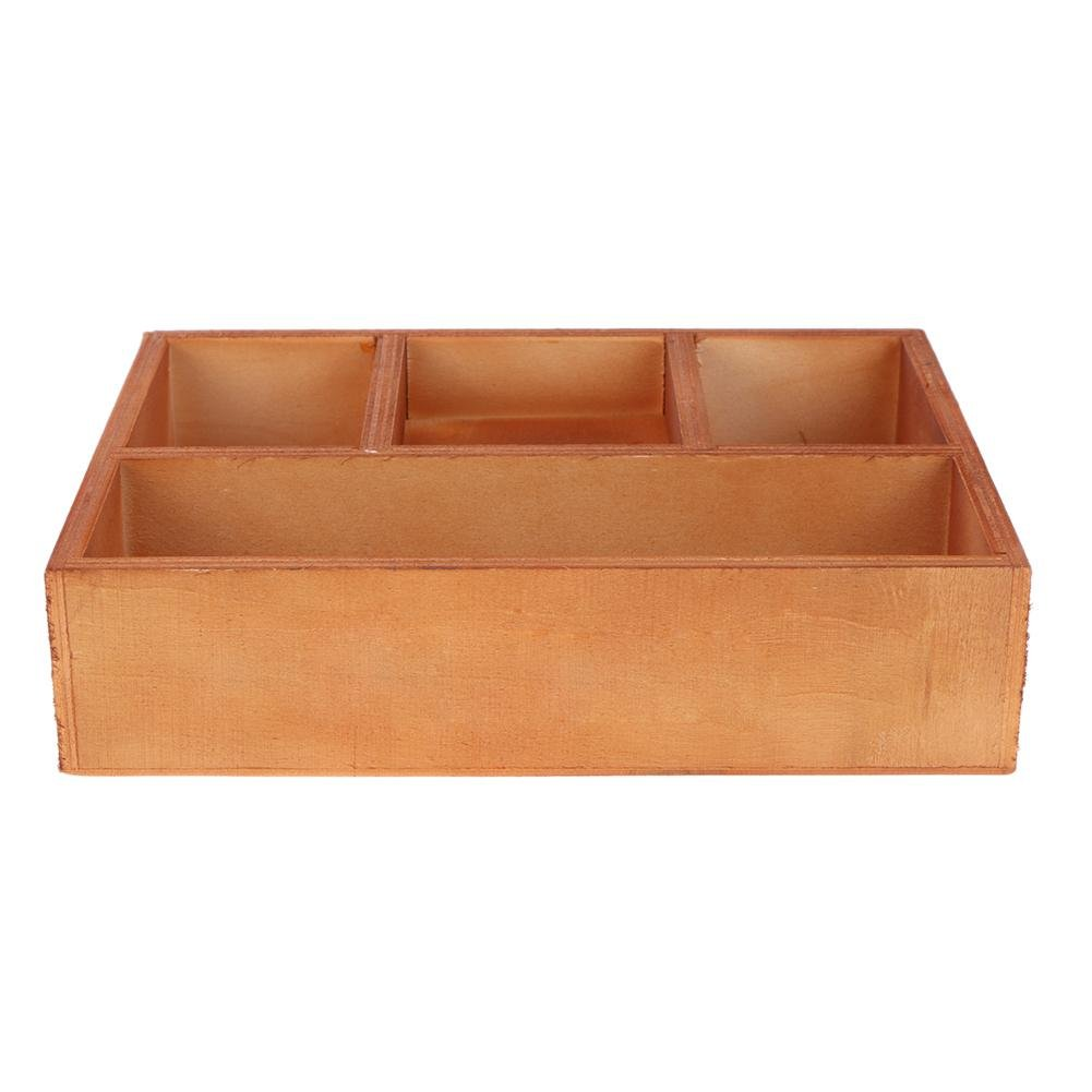 Drawer Organizer Tray,WinnerEco Retro Cosmetic Drawers Storage Wooden Storage Box Makeup Jewelry Box for Crafts Plants Supplies