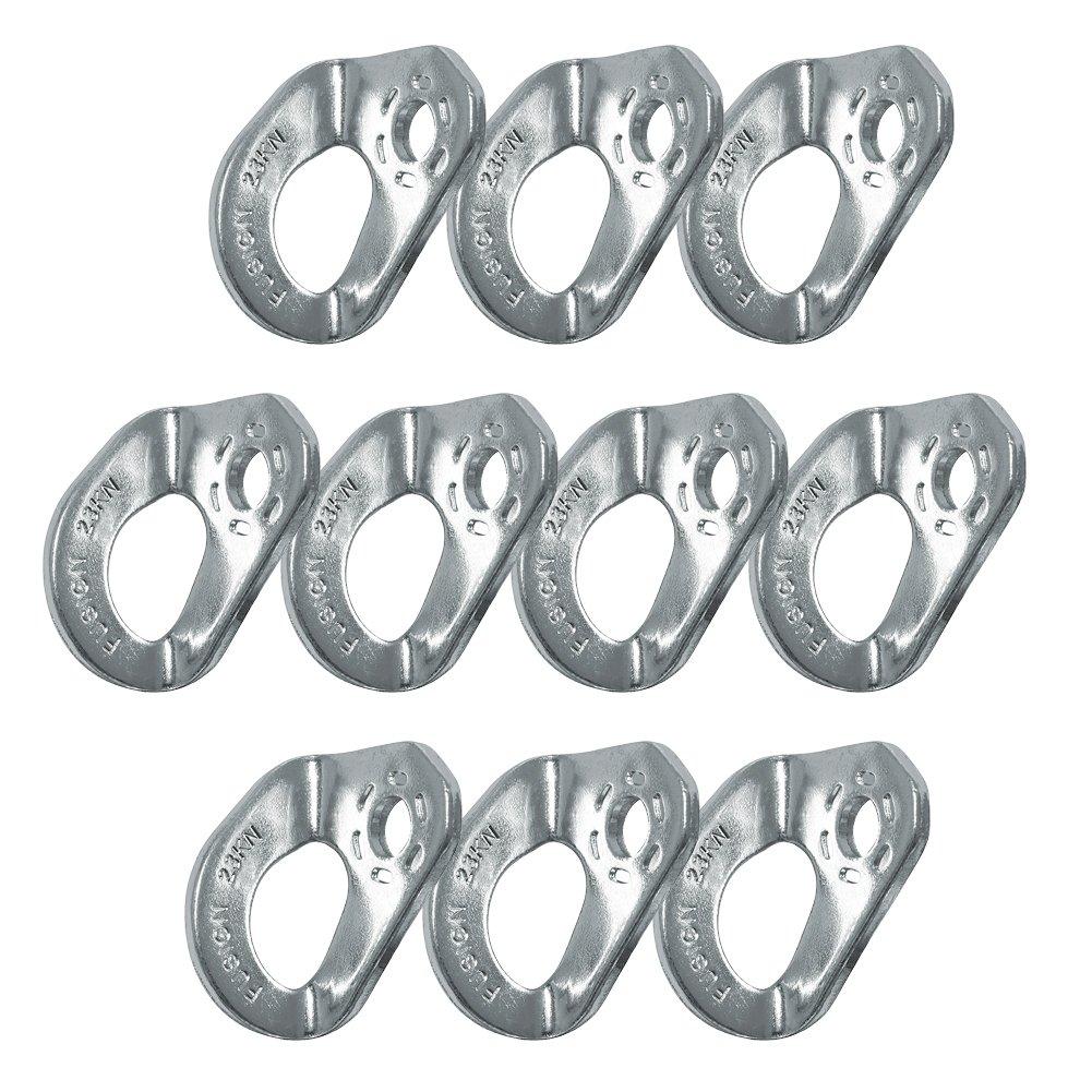 """Fusion Climb Cabal 3/8"""" 23KN Zinc Plated Steel Anchor Bolt Hanger 10-Pack"""