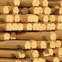 Machine rounded (cylindrical or moonshaped) log for house construction, siberian larch, pine,cedar, directly from manufacturer