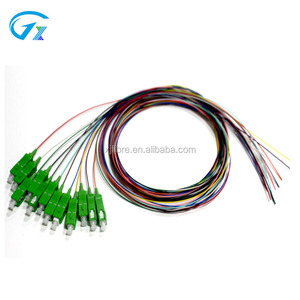Hot sale SC/APC 12 fiber cores fiber optic pigtail fiber ribbon indoor cable 12 colors tight buffered pigtails