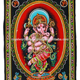 indian Lord Ganesha Indian Wall Hanging Multicolor Cotton Tapestry Poster Tapestries Size: (85 X 85 inches) (215 X 215 cm)