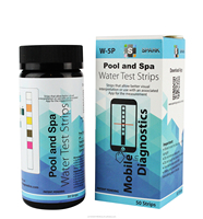 W-5P 5 in 1Parameter Water test strips for Pool Spa and Drinking Water with Mobile App Reader(iOS/Android)