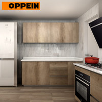 OPPEIN Kitchen Cabinets Prices Wood Cupboard Wall and Base Cabinets
