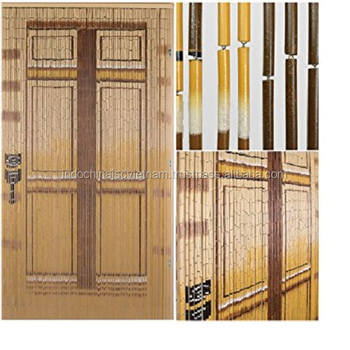 Natural Bamboo Beaded Door Curtains/ Vietnam Bamboo Painted Door Curtain