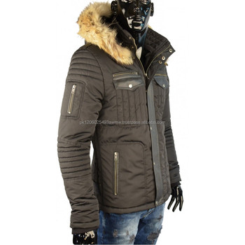 Italian Winter Fashion Jacket With Fur Collar For Men 2018 Winter