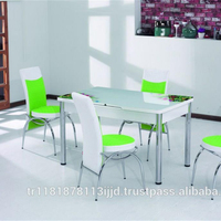 Glass dinning modern dining table and chairs set / Turkish Original
