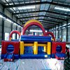 Giant adult inflatable obstacle course,big size high quality three part jumping kids obstacle course fo sell