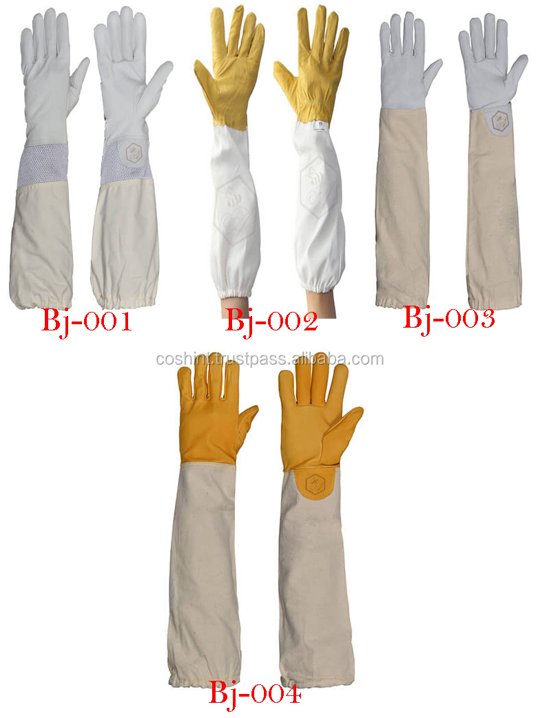 Professional Quality Beekeeping Bee Jacket Leather Gloves Bundle Large