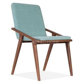 Achio Soft Teal Wood Chair Cushion Dining