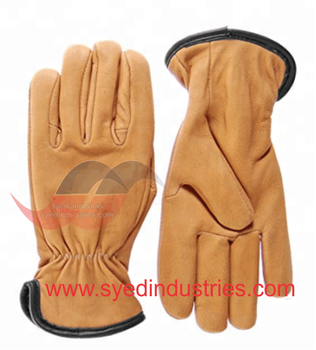 Ladies Fashion Leather Gloves made With Genuine Sheepskin Leather