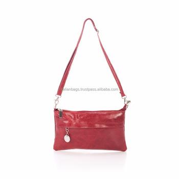 Buy Cocodrilo Rojo bolso Cuero Genuino 135 Bolso Italiano Diseño Francia Hecho De Mango Diseñador A Genuino Europa Mano bf6g7Yy