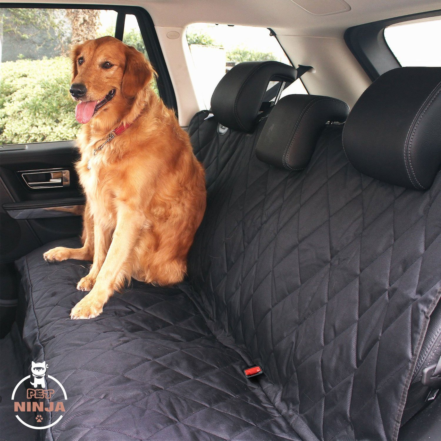 PETNINJA Luxury Waterproof Pet Seat Cover for Cars Durable Dog Car Seat Cover for Cars Trucks and SUVs, Machine Washable