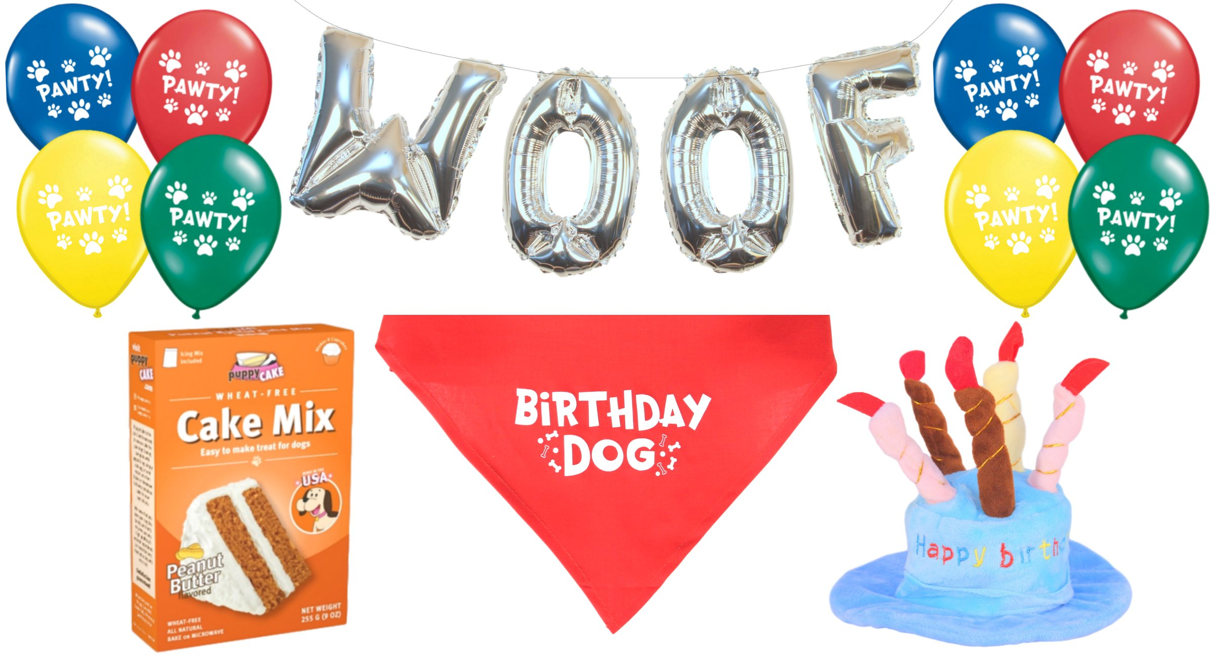 Get Quotations Dog Birthday Party Decorations Kit By Blast In A Box Blue Hat Puppy