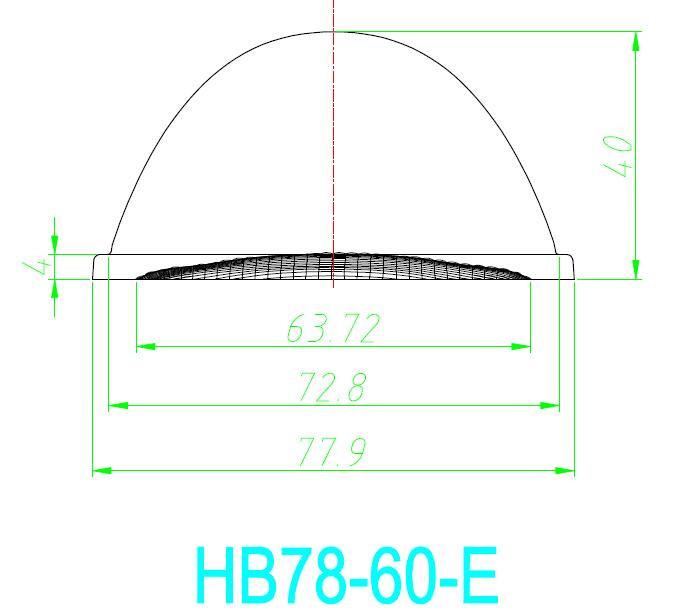 LED Kaca Lensa 78mm 60 90 120 derajat untuk Pemegang Untuk Teluk Tinggi Lampu LED Tumbuh cahaya