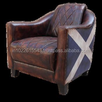Remarkable Vintage Industrial Leather Single Chair Sofa Union Jack Single Seater Sofa View Vintage Style Leather Sofa Garud Enterprises Product Details From Creativecarmelina Interior Chair Design Creativecarmelinacom