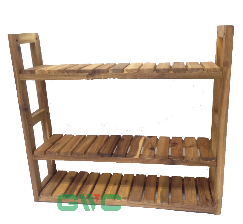 Bathroom Shelves 3 Tier Wall Shelf Kitchen Storage Unit Rack Mountable  Bathroom Organiser Acacia 60*15*54cm - Buy Decorative Shelving Units,Wood  ...