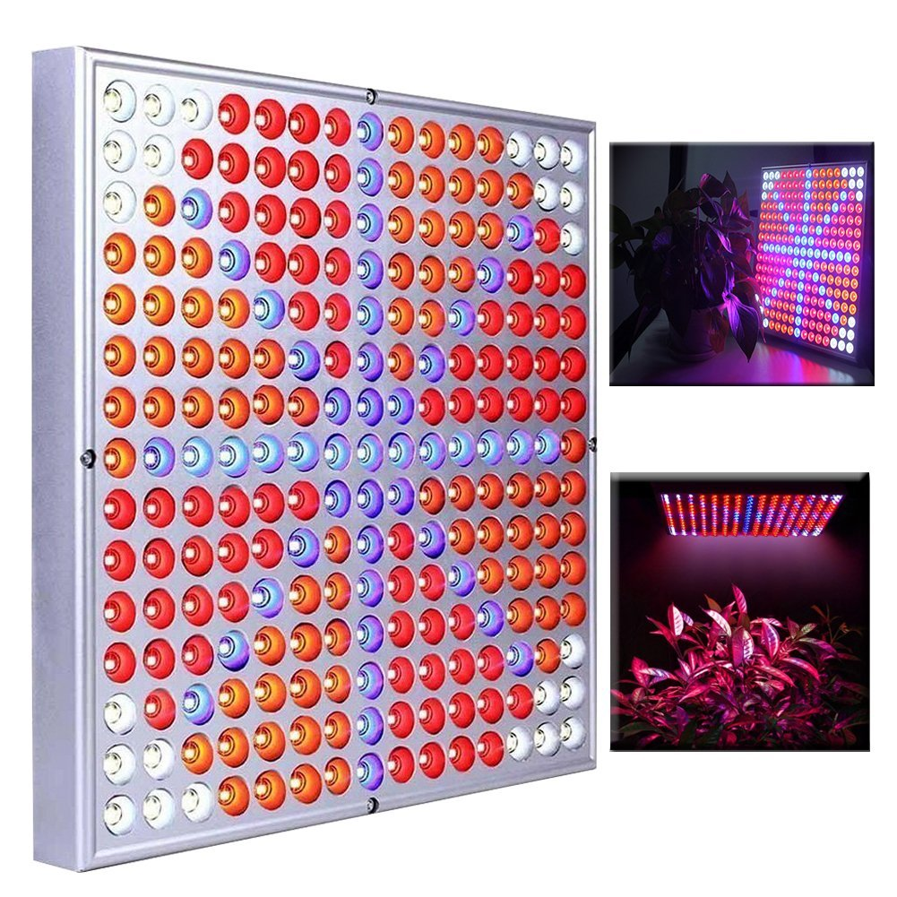 Senavi Led Grow Light 45W Plant light Grow Panel Light White Orange Red Blue For Garden Greenhouse And Hydroponic Full Spectrum Growing Light for Indoor Plant Hanging Lamps plant growth and folwering
