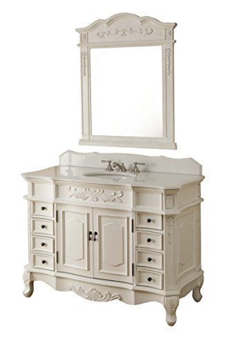 Get Quotations 42 Traditional Style Morton Bathroom Sink Vanity With Matching Mirror Model Hf 2815w