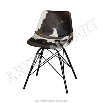 Admirable Industrial Cowhide Comfortable Seating Leather Chair Genuine Leather Dining Chair Buy Cow Leather Chair Hair On Leather Chair Leather Furniture Alphanode Cool Chair Designs And Ideas Alphanodeonline
