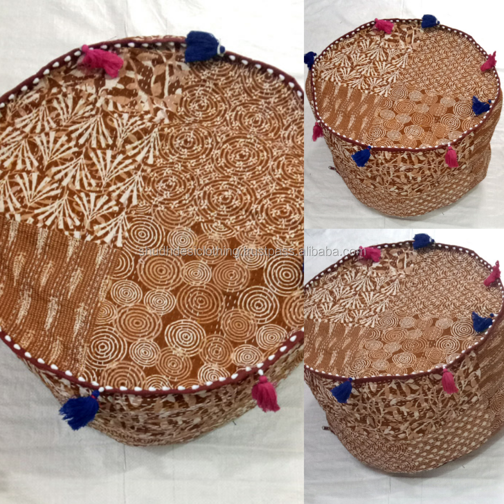Home decor jaipuri beautiful handmade cotton pouf