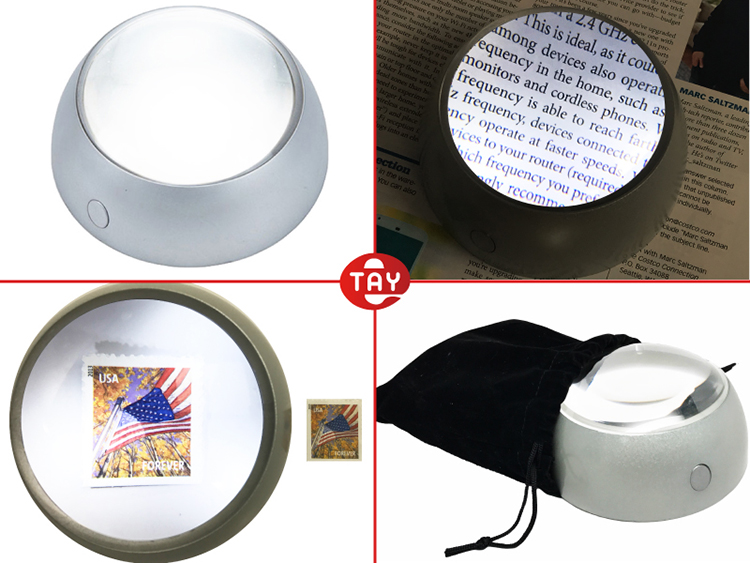 Hight Quality LED Light  Dome Magnifying Glass