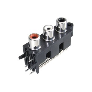 3 pin connector for pcb board 3pin female RCA pin jack
