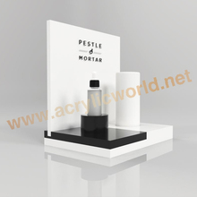 Fabrikant Custom Aanrecht Acryl Parfumflesje Display, Acryl <span class=keywords><strong>Plastic</strong></span> Make Display Stands