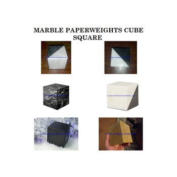 Customized marble paperweights cube square natural stone
