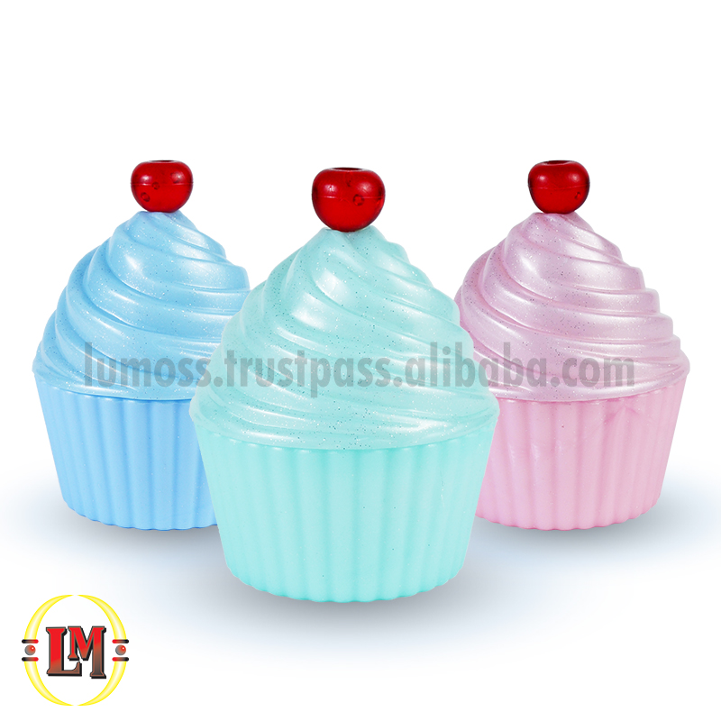 Funky Cup Cake Holder/Container with Swirl Cap & Cherry