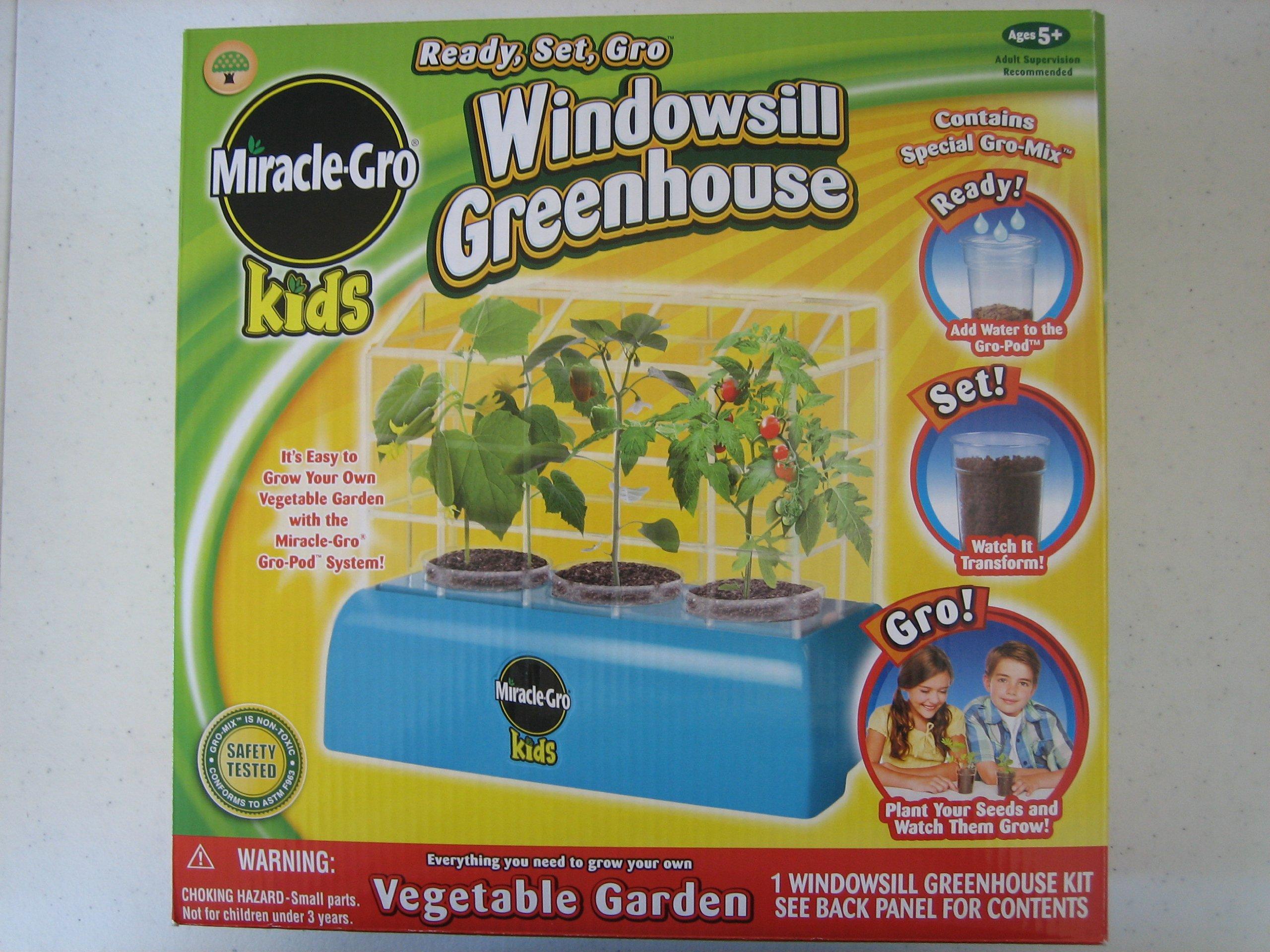 Miracle-Gro Kids Ready, Set, Gro Windowsill Greenhouse