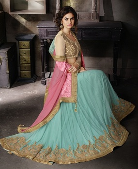 party wear sarees Special Heavy Blouse Designer Embroidery and Lace Pearl Work Bridal Indian Women Wear Silk Sarees In Surat