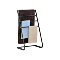 Bathroom 4 tier standing metal bath towel rack