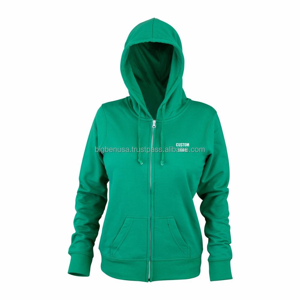 Wholesale Custom Printed Women Zip Up Sports Hoodie at Factory Wholesalers 783dd28481
