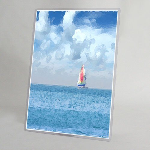 """StoreSMART - 11""""x17"""" - Crystal-Clear Rigid Print Toploader Frame with 10"""" Double Wing Easel Back - 25-Pack - HPP11X17EB-25"""
