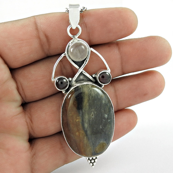 Love Making Multi Stone 925 Sterling Silver Jewelry Pendant Handmade Silver Jewelry Supplier Silver Jewelry