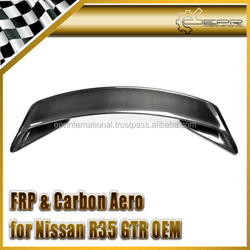 For Nissan R35 GTR GT-R Carbon OEM Type Rear Trunk Boot Spoiler Wing