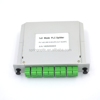 1x2 1x8 LGX Box Fiber Optic PLC Splitter with SC/APC Connector