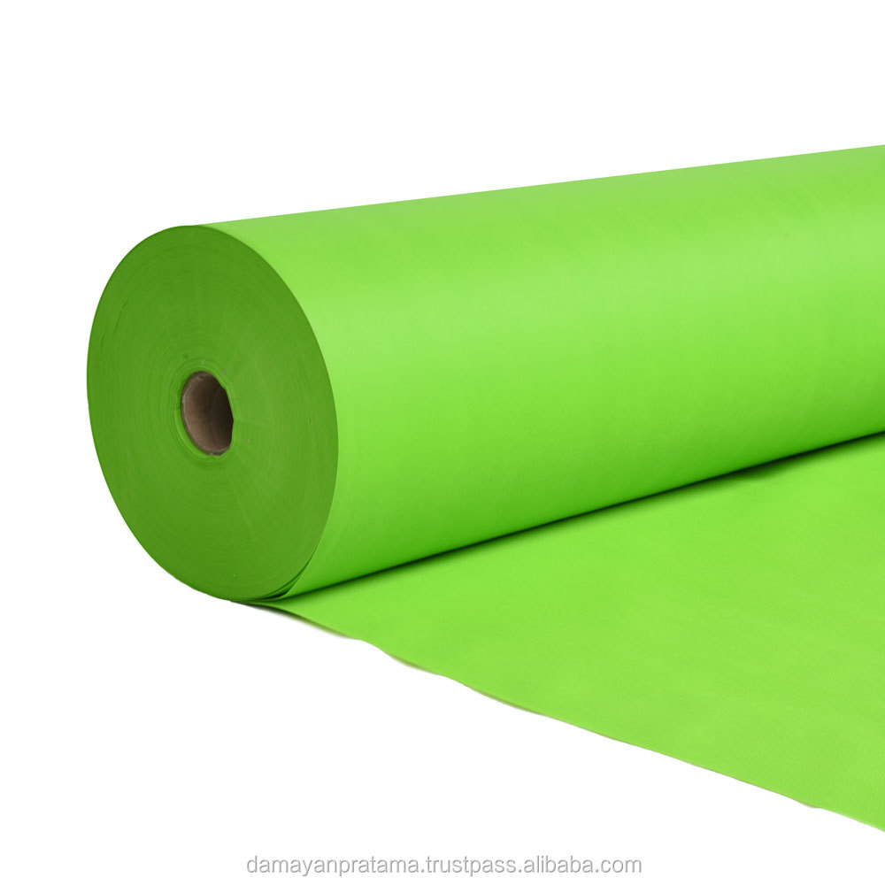 Indonesia Factory Product Non Woven Polyester Yarn Fabric for Goodie Bag Material with Light Green Color