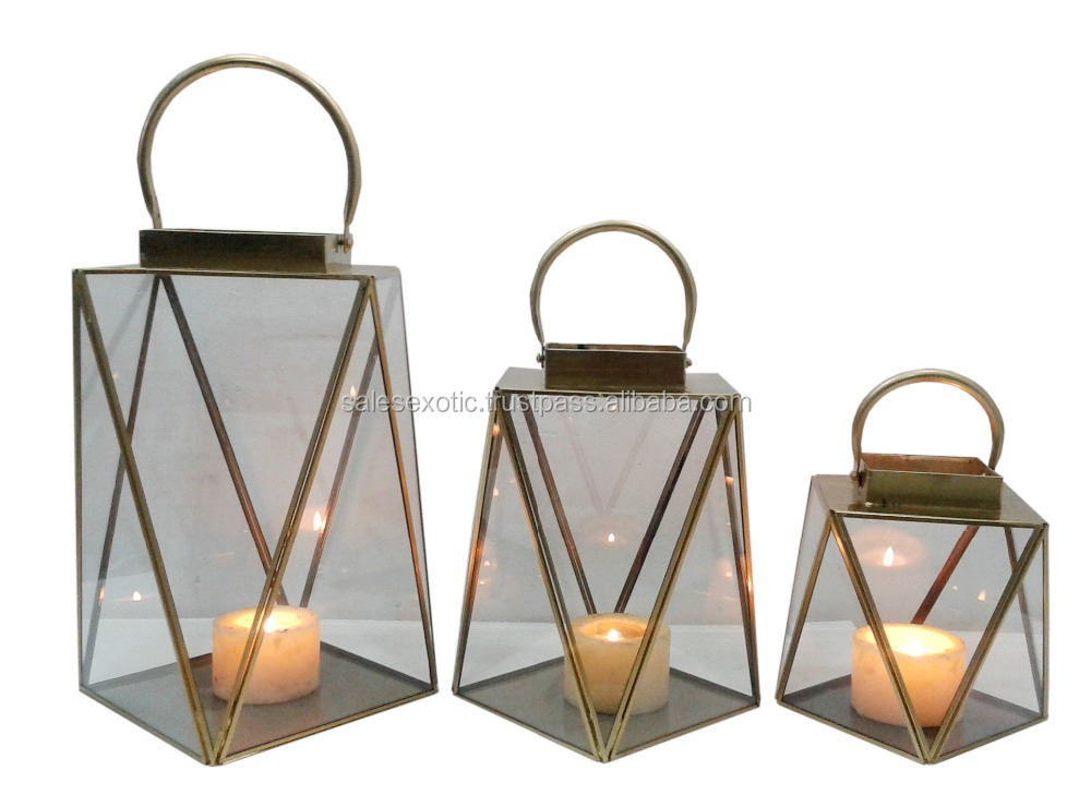 Modern Metal Glass Lantern Buy Modern Facet Lanterns New Glass Metal Lanterns Nice Geometric Lanterns Product On Alibaba Com
