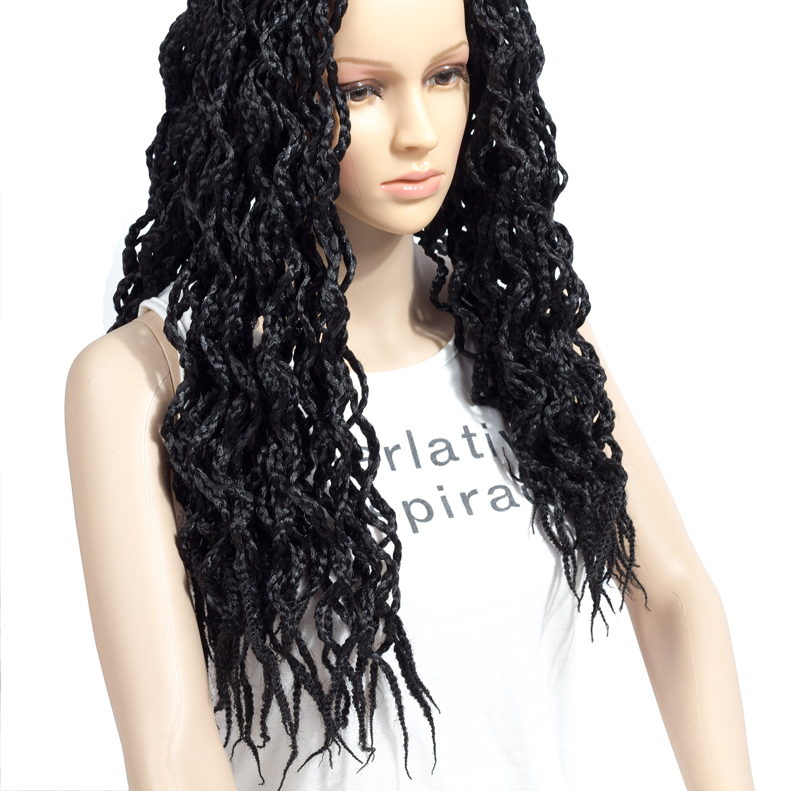 Get Quotations Ceedee 6 Packs Curly Box Braids Crochet Hair Extensions Synthetic Fiber